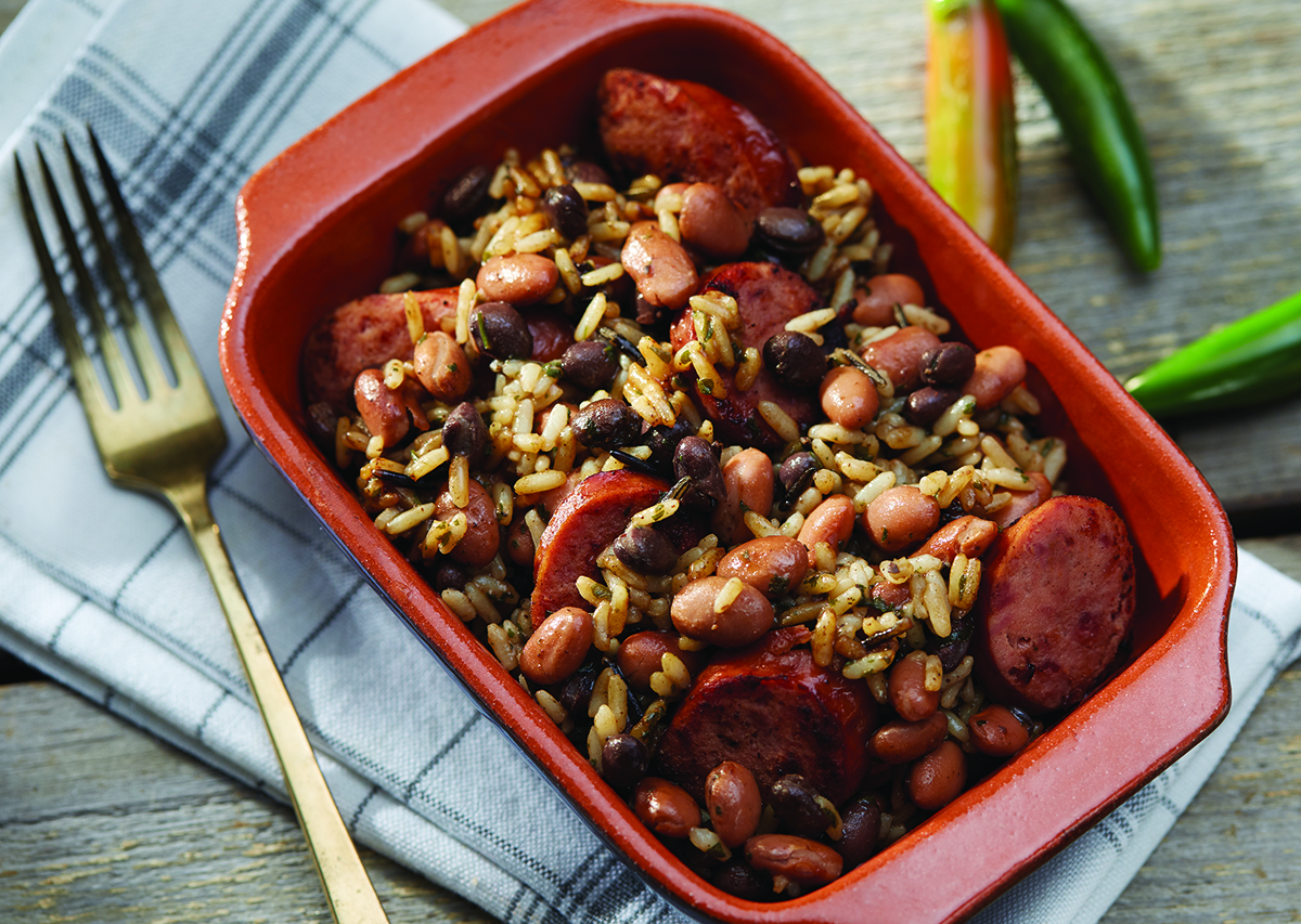 George Foreman Red Beans and Rice with Smoked Sausage Recipe