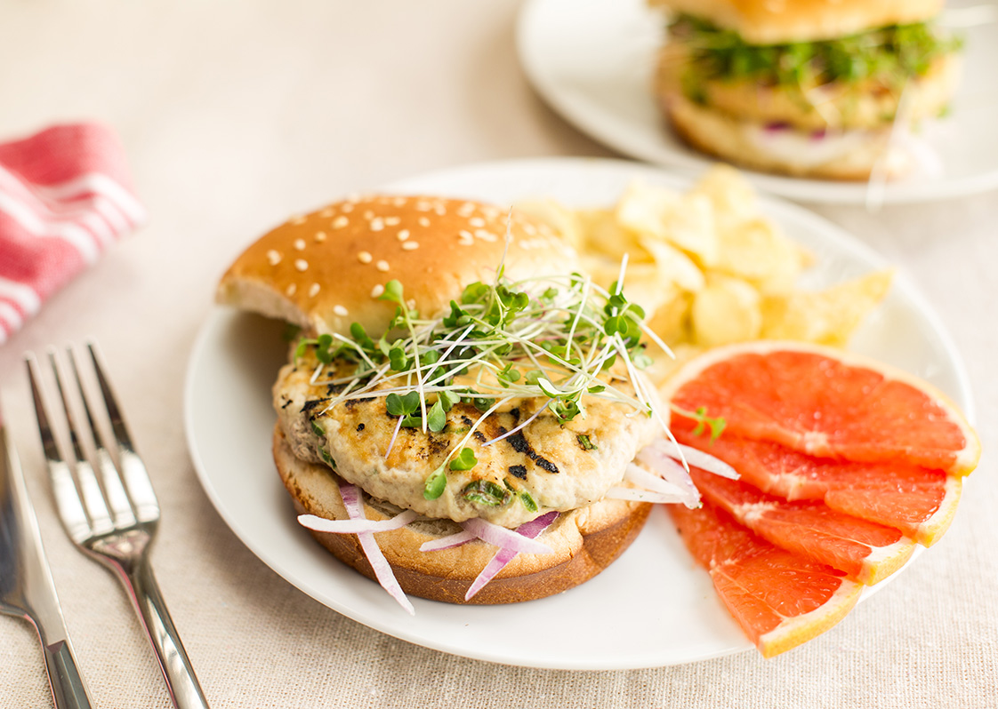 Asian Chicken Burgers Hero