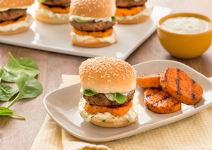 Turkey and Sweet Potato Sliders with Tarragon Aioli