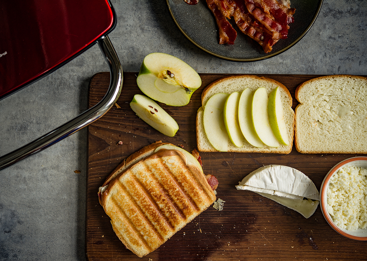 Apple, Bacon and Brie Panini