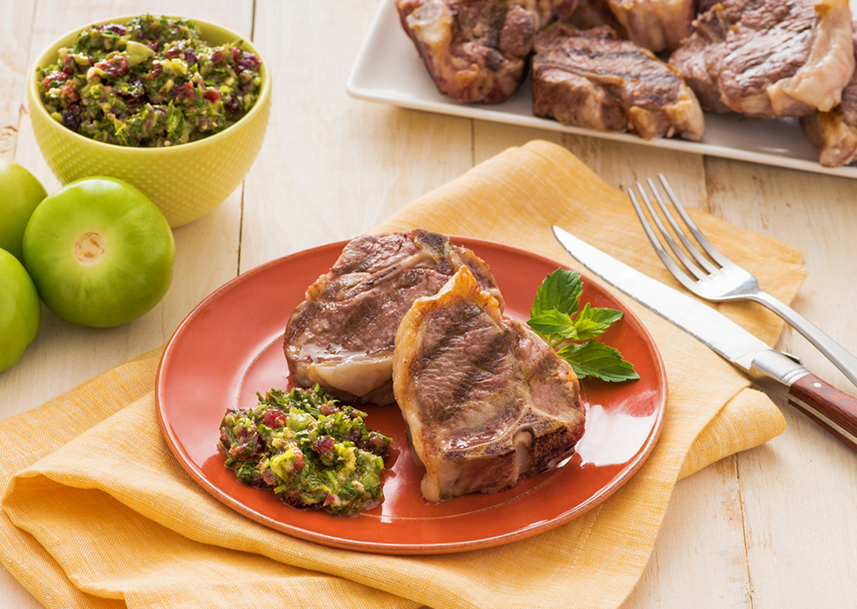 Grilled Lamb Chops with Salsa Verde