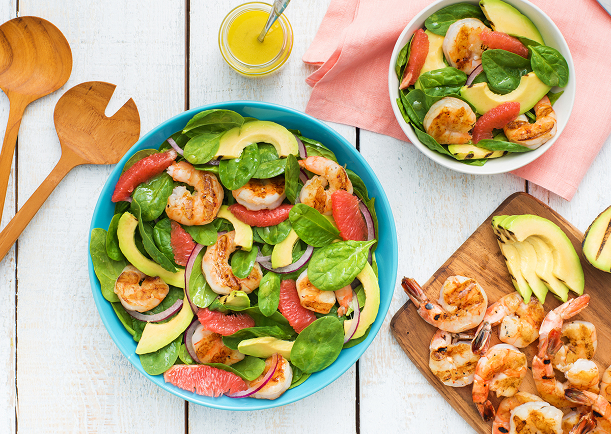 Grilled Shrimp and Avocado Salad