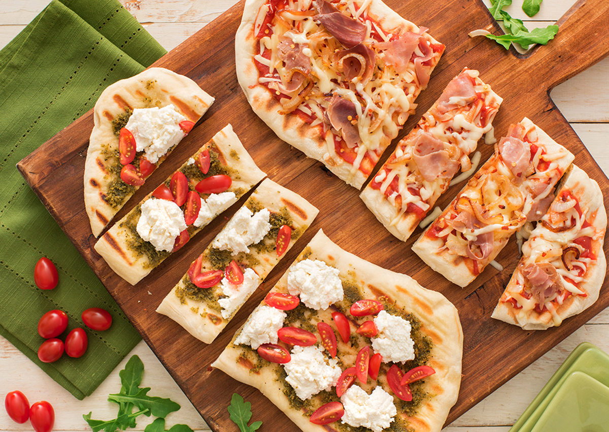 Grilled Flat Bread Pizza Duo