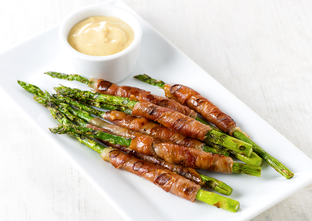 Prosciutto Wrapped Asparagus with Dijon Dipping Sauce ...