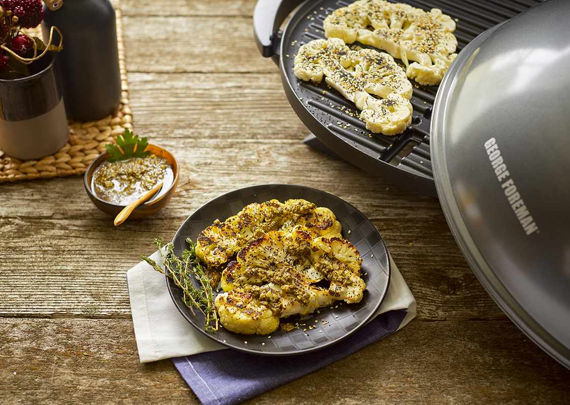 Everything Bagel-Spiced Cauliflower Steaks