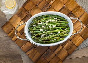 Grilled Asparagus with Feta Cheese