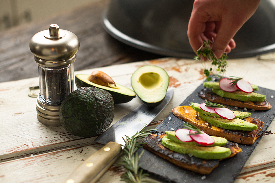 George Foreman grilled sweet potato and avacado recipe indoor outdoor grill