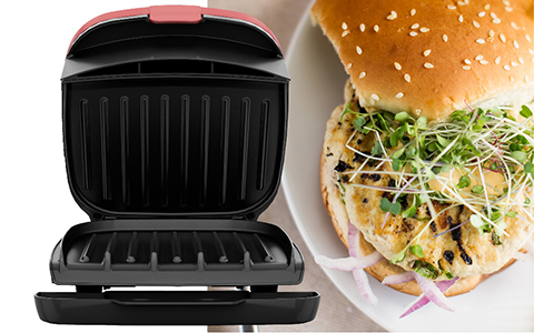 George Foreman® feature callout right gr1036btr