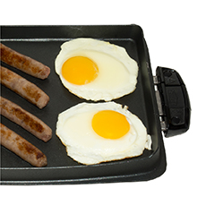 George Foreman® evolve grill system griddle plate versatile cooking gfp84bp
