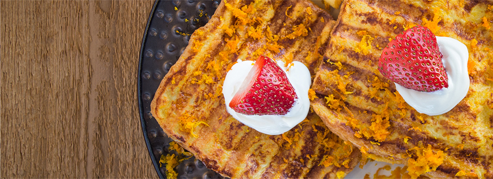 george foreman gr2060b orange strawberry french toasts