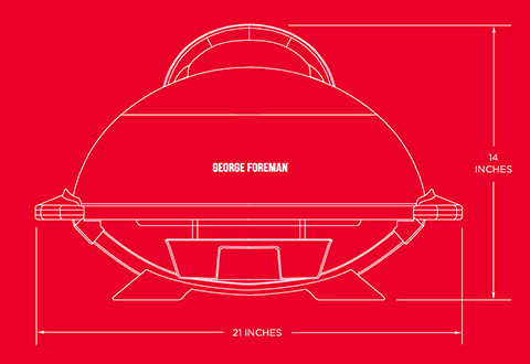 GFO240GM George Foreman 15+ Serving Indoor|Outdoor Grill