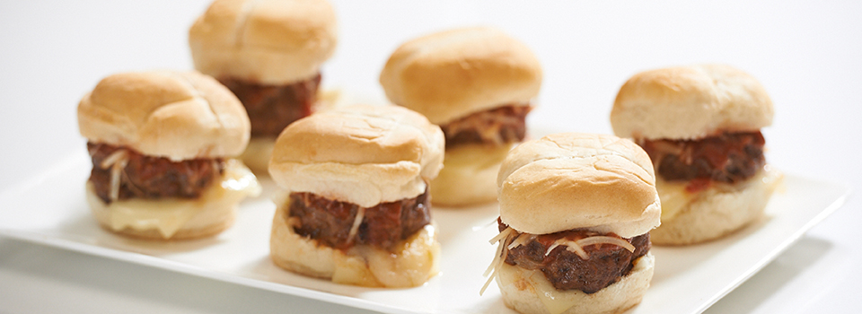George Foreman® turkey sweet potato sliders recipe