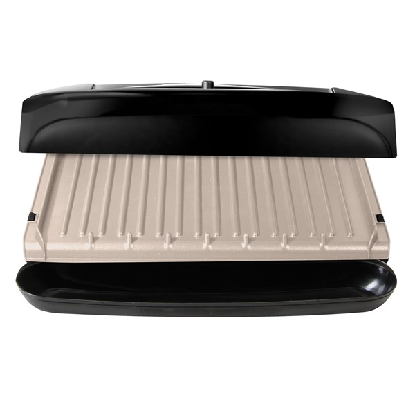 6 serving removable ceramic plate panini grill black - George foreman replacement grill plates ...