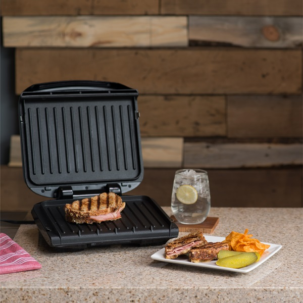 4 serving removable plate panini grill black george foreman - Buy george foreman grill ...