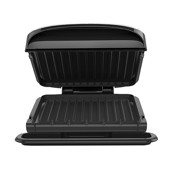 4 serving removable plate panini grill black george foreman - Grill with removable plates ...
