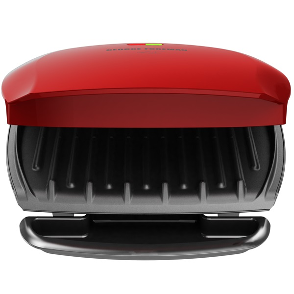 George Foreman® 5 serving basic plate grill and panini red gr2080r