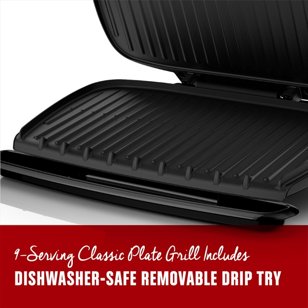 9 serving basic plate grill platinum george foreman - Drip tray george foreman grill ...