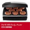 GR380FB 8-Serving Classic Plate Electric Indoor Grill and Panini Press
