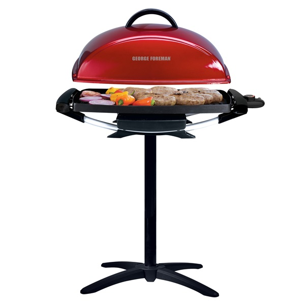 George Foreman Electric Grill ~ Indoor outdoor serving rectangular electric grill