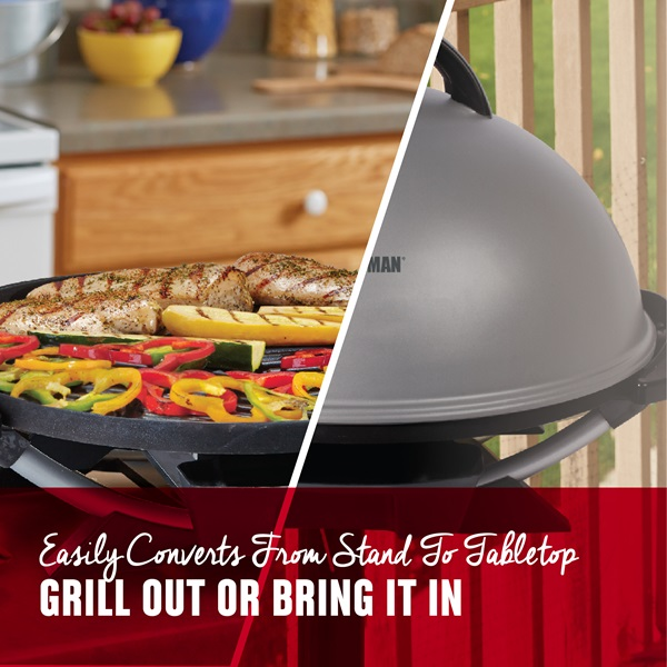 Indoor Outdoor 15+ Serving Domed Electric Grill - Silver   George ...