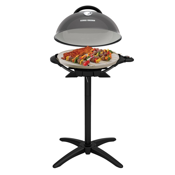 Indoor|Outdoor 15+ Serving Domed Electric Grill with Ceramic Plates ...