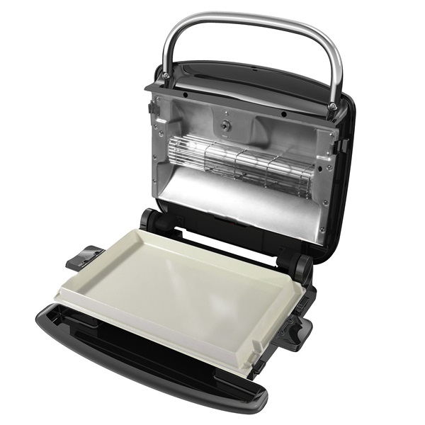 Grill broil with waffle plates ceramic griddle and - George foreman replacement grill plates ...