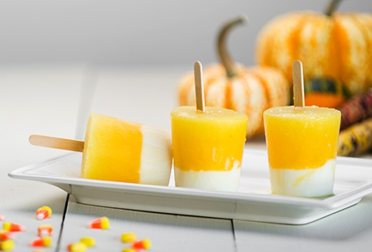 Candy Corn Popsicles