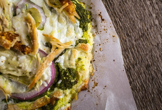 Cauliflower Pizza Crust Hero Image
