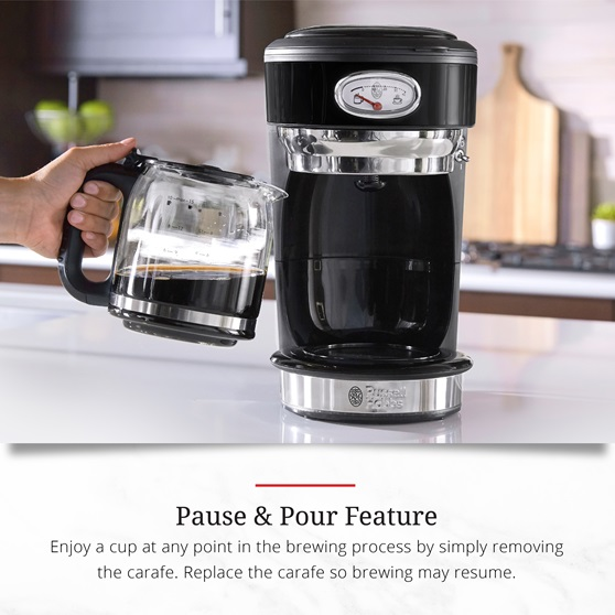 CM3100BKR Retro Style Pause and Pour Feature