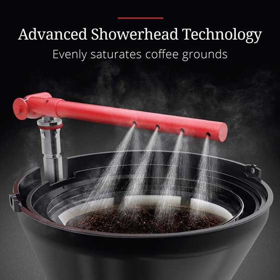 CM3100WTR Retro Style Coffeemaker in White - Advanced Showerhead