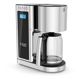 Stainless Steel 8-Cup Coffeemaker | Black Glass Accent