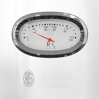 KE5550WTR Retro Collection White Tea Kettle - Water Temp Gauge