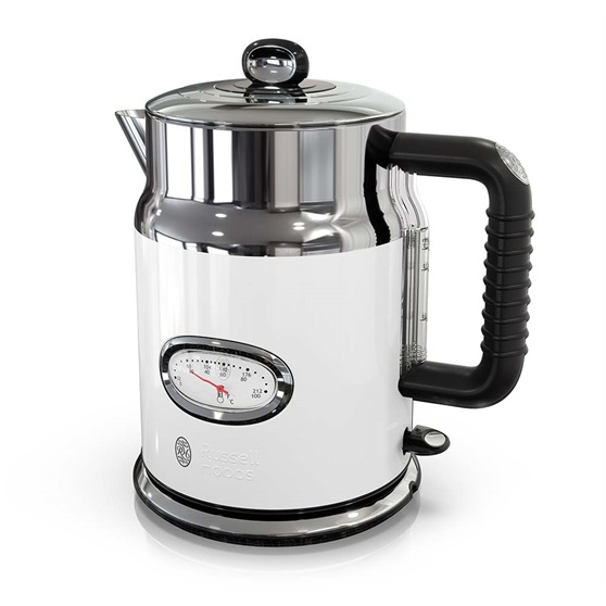 KE5550WTR Retro Style Electric Kettle in White