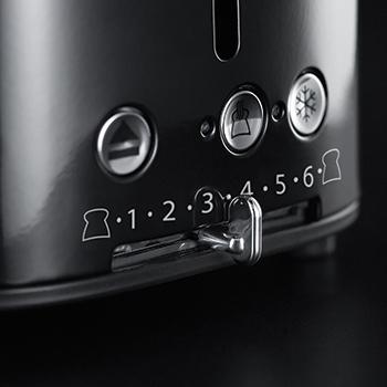russell hobbs black retro style 2 slice toaster variable browning