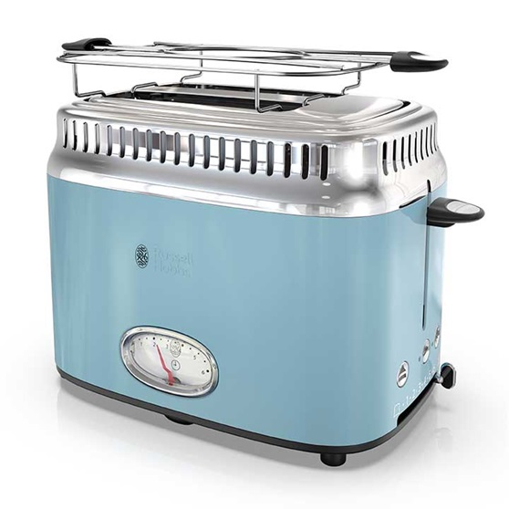 Russell Hobbs 2-Slice Retro Toaster, Heavenly Blue, TR9150BLR