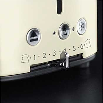 Variable Browning Control | Retro Style 2-Slice Toaster | Cream & Stainless Steel