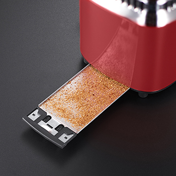 russell hobbs red retro 2 slice toaster crumb tray