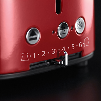 russell hobbs red retro 2 slice toaster variable browning control