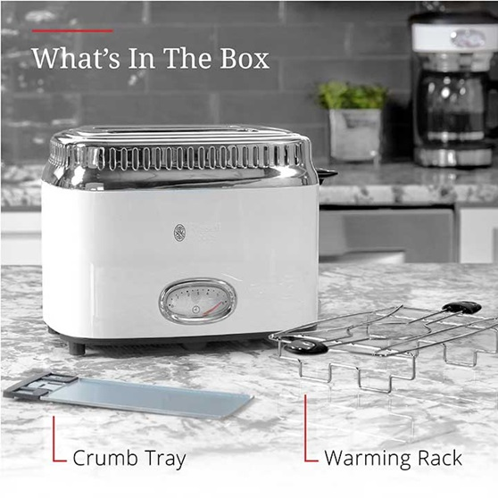 What's in the box | Crumb tray and warming rack | TR9150WTR