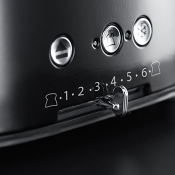russell hobbs black retro 4 slice toaster variable browning control