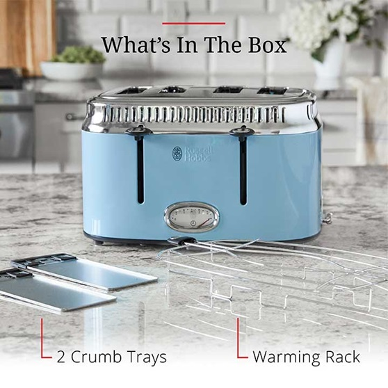 Whats In the Box - 2 crumb trays and a warming rack