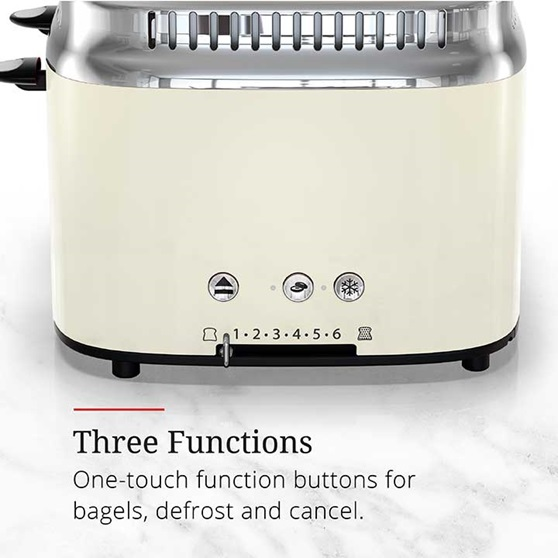 Three functions, one touch function buttons for bagels, defrost and cancel | TR9250CRRC