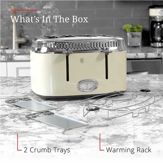 What's in the box | 2 Crumb trays and warming rack | TR9250CRRC