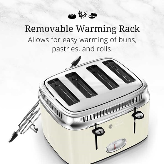 Removable Warming Rack | Allows for easy warming of buns, pastries and rolls | TR9250CRRC