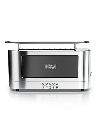 stainless steel 8 cup coffeemaker black glass accent russell hobbs. Black Bedroom Furniture Sets. Home Design Ideas