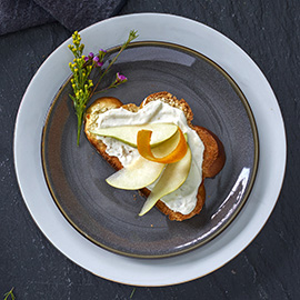 Orange Pear Toast Recipe from Russell Hobbs