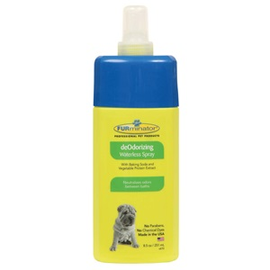 Keep your pet smelling its best with our waterless smelly dog cleaning spray.