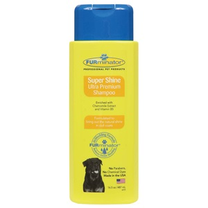 With FURminator's specially formulated SuperShine dog shampoo, you're furry friend will have a gorgeous shiny dog coat in no time!