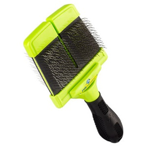 Perfect large firm slicker brush for dogs with long and curly coats.