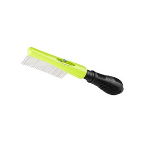 With the small dog hair finishing comb, you can keep your pet's hair tangle and debris free!